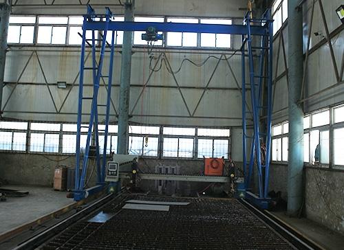 钢模板加工厂区